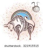 taurus. zodiac sign | Shutterstock .eps vector #321915515