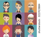 set of people icons in flat... | Shutterstock .eps vector #321915884