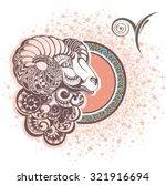 aries. zodiac sign | Shutterstock .eps vector #321916694