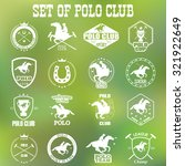 set of vintage horse polo club... | Shutterstock .eps vector #321922649