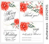 wedding invitation  thank you... | Shutterstock .eps vector #321922931