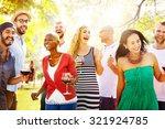 diverse people friends hanging... | Shutterstock . vector #321924785