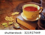 Cup Of Tea With Old Book ...