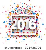 2016 new year sign with... | Shutterstock .eps vector #321936701