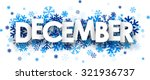 december sign with snowflakes....   Shutterstock .eps vector #321936737
