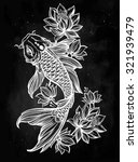 hand drawn fish  koi carp  with ...   Shutterstock .eps vector #321939479