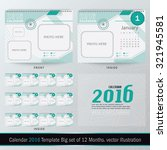desk calendar 2016 vector... | Shutterstock .eps vector #321945581