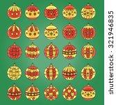 christmas decorations. vector... | Shutterstock .eps vector #321946835