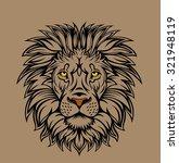 lion head illustration. nice to ... | Shutterstock .eps vector #321948119