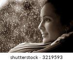 woman in deep thought  relaxing ... | Shutterstock . vector #3219593