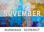 "the word ""november "" design by... | Shutterstock . vector #321963617"