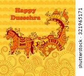 vector design of happy dussehra ... | Shutterstock .eps vector #321965171