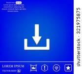 download   vector icon  | Shutterstock .eps vector #321975875