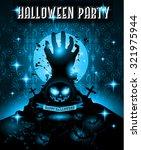 halloween night event flyer...   Shutterstock . vector #321975944