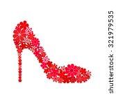 red shoe on a high heel... | Shutterstock .eps vector #321979535