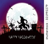 halloween background with...   Shutterstock .eps vector #321992279
