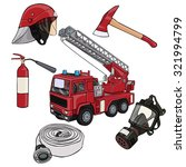 vector illustration  fireman...