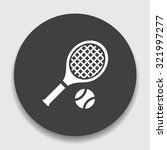 tennis  icon | Shutterstock .eps vector #321997277