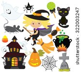 halloween vector illustration | Shutterstock .eps vector #322003247