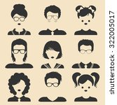 vector set of different male... | Shutterstock .eps vector #322005017