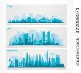 vector horizontal banners... | Shutterstock .eps vector #322008071