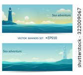vector banners. blue sea... | Shutterstock .eps vector #322009067