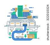 illustration of vector modern... | Shutterstock .eps vector #322010324