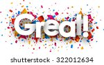 great sign with colour confetti.... | Shutterstock .eps vector #322012634