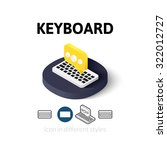 keyboard icon  vector symbol in ...
