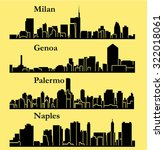 4 cities in italy    milan ... | Shutterstock .eps vector #322018061