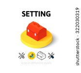 setting icon  vector symbol in...