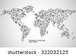 abstract world map. molecule... | Shutterstock .eps vector #322032125