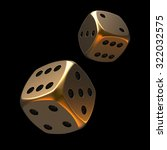 3d Golden Poker Dice With Blac...