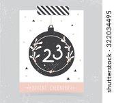 printable christmas advent... | Shutterstock .eps vector #322034495