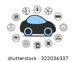 self driving car and autonomous ... | Shutterstock .eps vector #322036337
