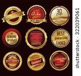 premium  quality retro vintage... | Shutterstock .eps vector #322039061