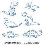 Cute Little Cartoon Dinosaurs...
