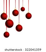 Christmas Red Balls With...