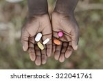 curing malaria   african girl... | Shutterstock . vector #322041761