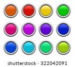 colored vector button set | Shutterstock .eps vector #322042091