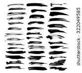 big set of vector brush strokes ... | Shutterstock .eps vector #322049585