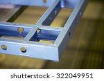 blue steel frame for home... | Shutterstock . vector #322049951