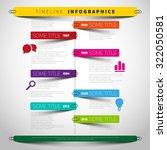 vector timeline infographic... | Shutterstock .eps vector #322050581