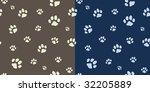 Paw Texture Bicolor In Vector