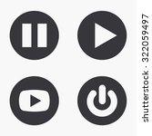 vector modern play  icons set...