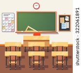 empty school classroom with... | Shutterstock .eps vector #322061891