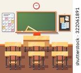 empty school classroom with... | Shutterstock .eps vector #322061891
