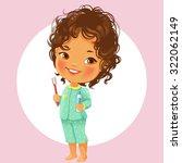 vector portrait of cute little... | Shutterstock .eps vector #322062149