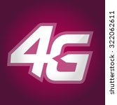 4g sign icon. mobile... | Shutterstock .eps vector #322062611