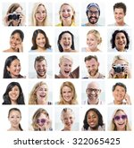 collage diverse faces... | Shutterstock . vector #322065425